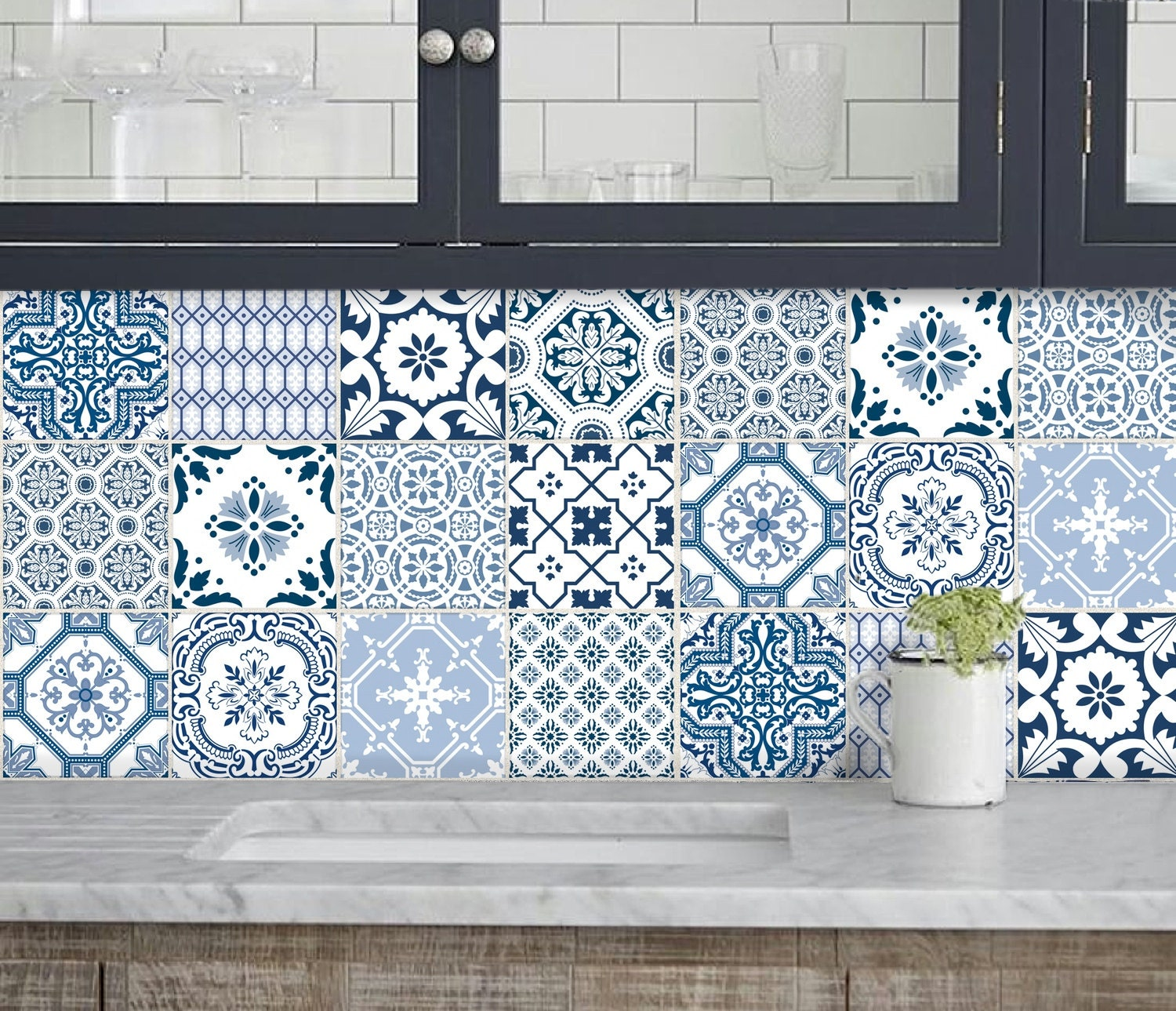 Https Www Etsy Com Listing 199519317 Kitchen Bathroom Tile Decals Vinyl