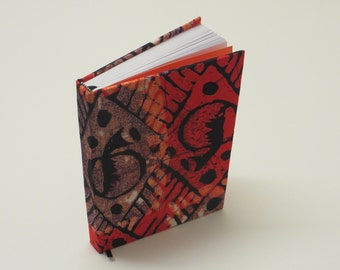 Opal Orange A5 African Print Clothbound Diary