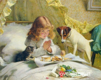 Suspense, 1894- Charles Burton Barber high quality hand-painted oil painting reproduction for child room decor or child gift