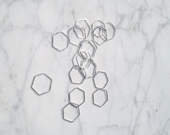 Sterling silver / Hexagon ring