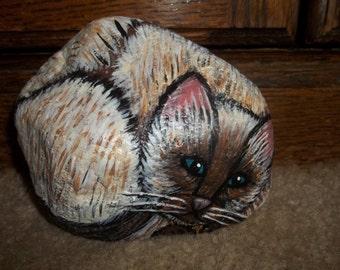Siamese Kitten Garden Rock