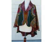 SALE: Reversible Ankara Cape/ African print cape/ Ankara Jacket