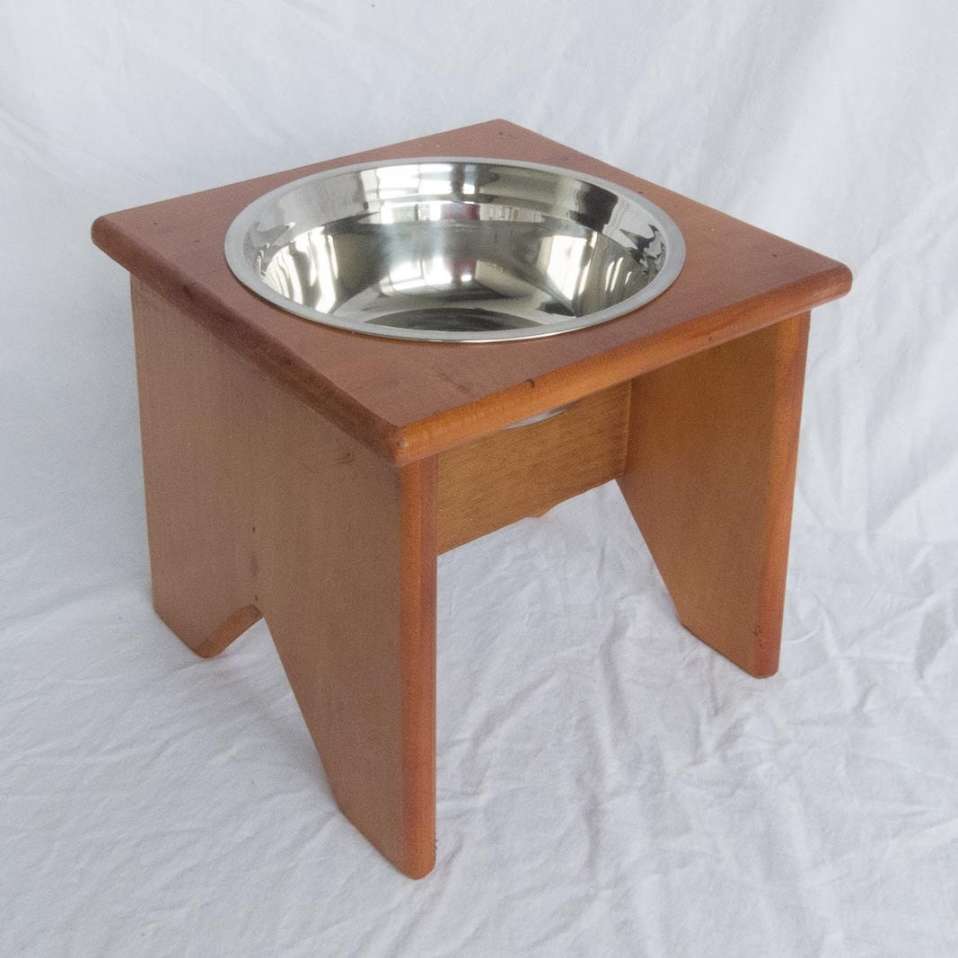 Elevated Dog Bowl Stand Wooden 1 Bowl 250 mm / 10 - photo#5