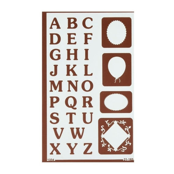 reverse letters template stencil lettering guide glass With letter guide stencil