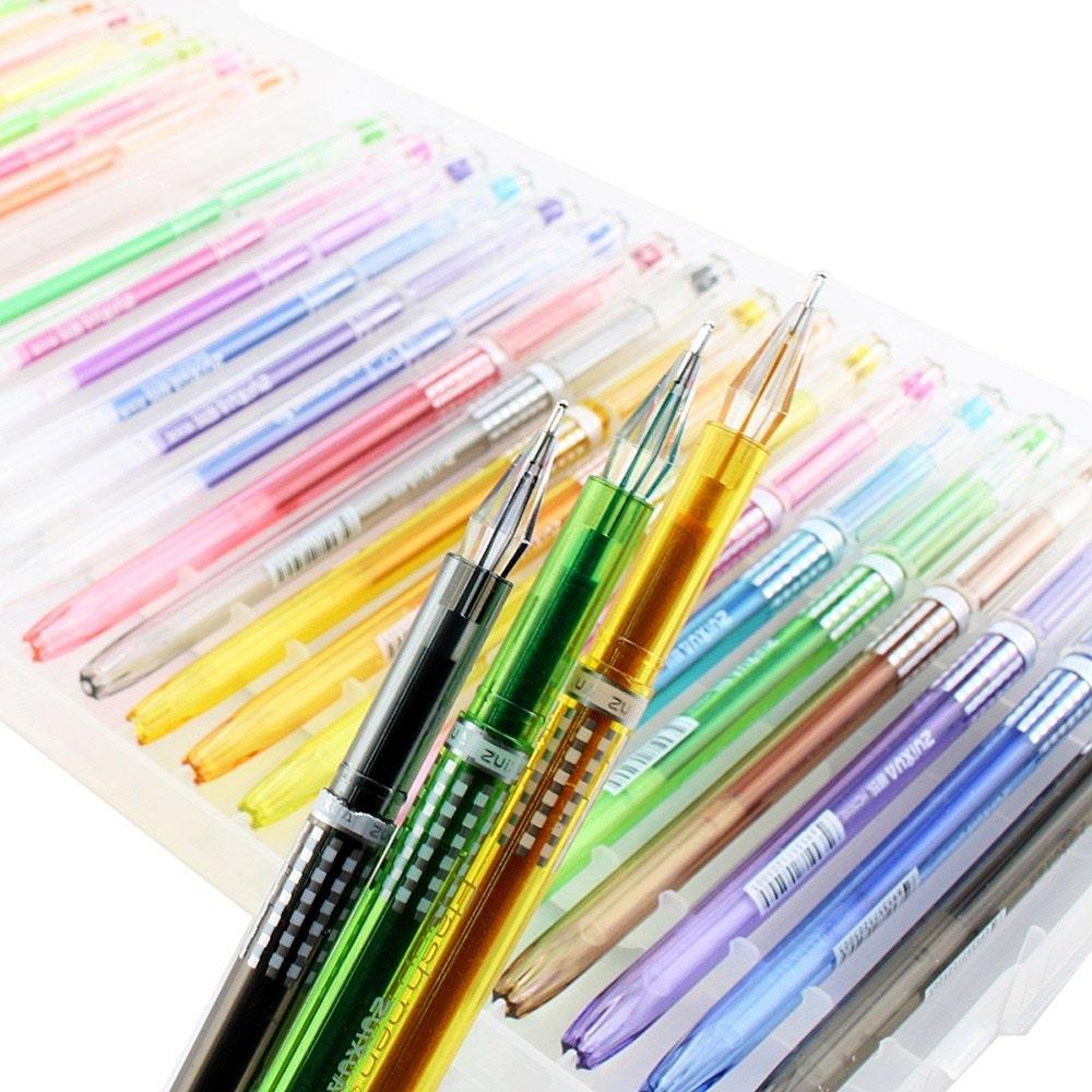24 Coloring Gel Pens Adult Coloring Books Drawing Bible