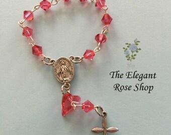 Swarovski beaded One Decade Rosary