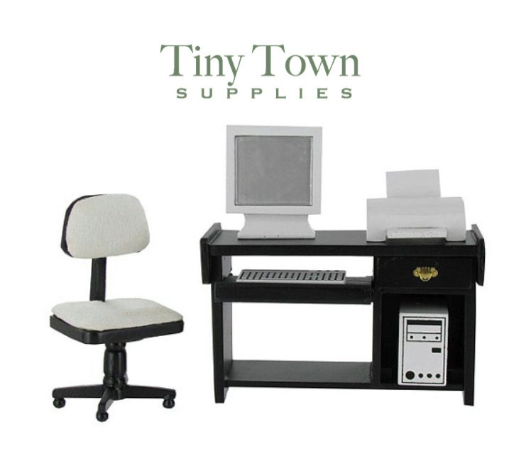 miniature office furniture dollhouse office furnishings