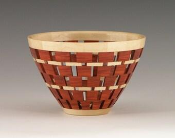 "No. 355 - Woodturning, Segmenting, Wood Vessel, Open Segmenting, Wood, ""Miami"""