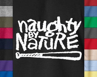 Naughty By Nature Hip Hop Baseball Retro Soft Ringspun Cotton T-Shirt 2Pac NWA