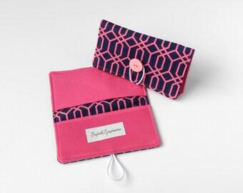 Carbon Copy Checkbook Cover, Duplicate Checks Purse Organizer Cash Envelope Fabric Checkbook Case Bridesmaid Gift Under 20 Geometric Pattern