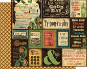 CLEARANCE SALE!  Graphic 45 Typography 12x12 Paper Mega Kit