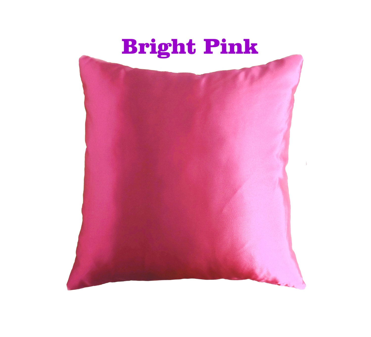 Light Pink Satin Throw Pillows : satin throw pillow light pink pillow purple satin pillow