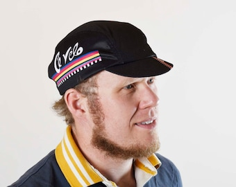 Awesome large cycling cap... it's a 3 panel retro design and lovely fit!
