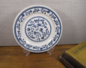 Homer Laughlin Blue and White Dessert Plate
