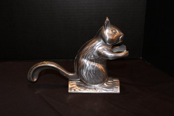 Vintage squirrel nut cracker aluminum alloy silver squirrel - Squirrel nut crackers ...