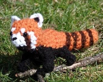 "Red Panda Plush Crochet ""Pandir"""