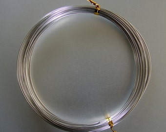 Aluminum Wire,  Very soft, silver color, 1mm, Length Approx 10 m.  (293499-76)
