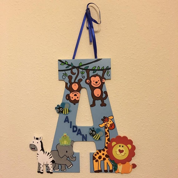 Animal Themed Boys Monogram Letters, Boys Letters, Boys Wall Decor, Monogram Letters, Cute Monogram Letters, Wood Letters, Boys Room Decor
