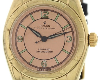 Men's Vintage Rolex Oyster Perpetual 18K Yellow Gold Watch 5011