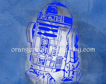 R2D2 Star Wars Digital Print