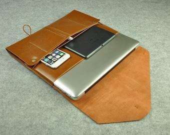 Brown Leather Macbook Sleeve 13 Inch Laptop Sleeve for Macbook Air,Lenovo Yoga,11 or 13 Inch Macbooks,Custom Laptop Case,New Macbook 12-040
