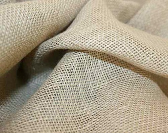 "8 OZ Jute Natural Burlap Fabric 40"" Wide - Sold by the meter"