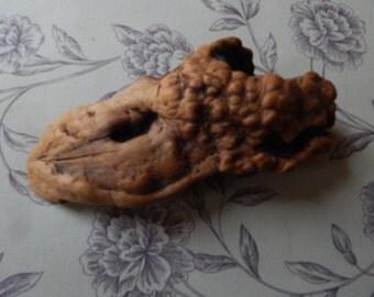 Burled Wood Sculpture, Cottage Chic, Natural, Rustic, Folk Art