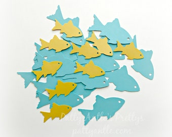 Fish Die Cuts, Fish Confetti, Father's Day Die Cuts, Father's Day Confetti, Travel Die Cuts, Under the Sea Die Cuts, Ocean Die Cuts