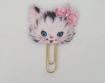 Planner clip, Planner clips, Paper clips, Planner, Planners, Retro cat clip, Planner supplies, Retro cat, Stationery, Bookmark