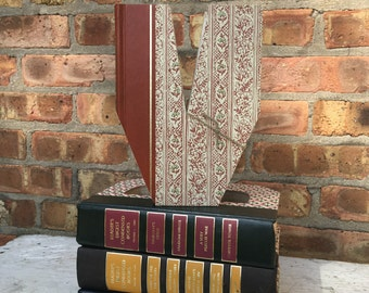 Letter V...Custom Made Just For YOU!!!!  Letters created from actual Hardcover Books!!