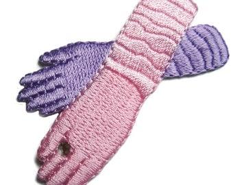 Set of (15) PINK Purple GLOVES Applique Embroidered Lady Fancy Lavender Patch Set