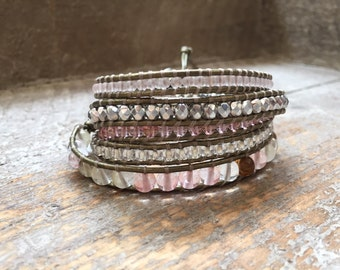 Gloria Beaded Wrap Bracelet