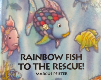 1995 hardcover etsy for Rainbow fish to the rescue
