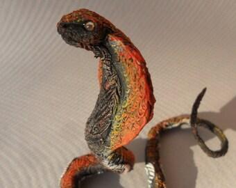 Autumn cobra sculpture fantasy animal