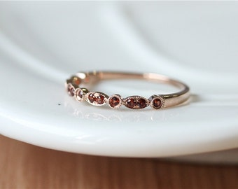 Garnet wedding band Etsy
