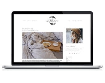 "wordpress theme template ""wildflower"" - stylish blog portfolio design"