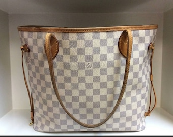Authentic Louis Vuitton Neverfull MM Damier Azur - Best Offers Considered