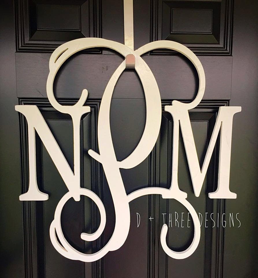 24 Inch Painted Wooden Monogram Letters Home Decor Weddings Nursery Letters