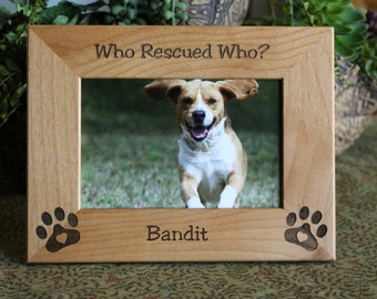 personalized dog cat picture frame dog cat adoption frame dog lovers gift cat lovers gift pet rescue gift