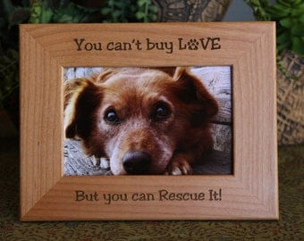 personalized pet rescue wood picture frame personalize dog picture frame personalized cat photo frame