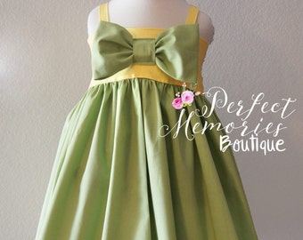 Tiana Dress   Girls Princess Dress   Birthday Dress   Baby Tiana   Disney Dress   Halloween Costume   Princess Tiana   Disney Vacation