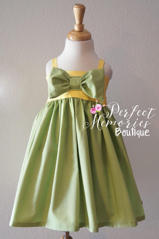 Tiana Dress Girls Princess Dress Birthday Dress Baby