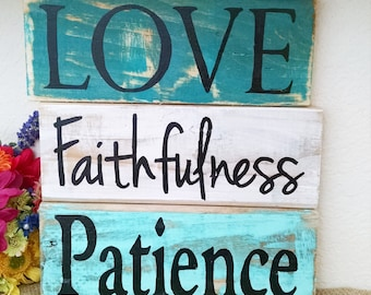 "Handmade Single ""Fruit of the Spirit"" pallet board signs,  Christian art, Reclaimed Wood, Christian pallet signs, bible verse art"
