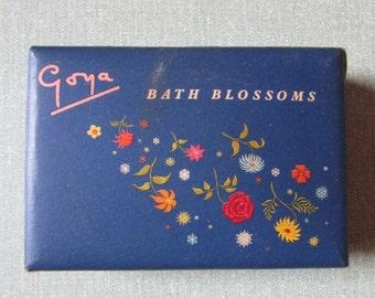Empty vintage Goya Bath Blossoms box