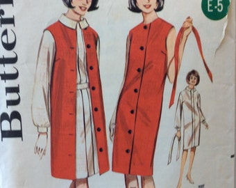 CLEARANCE!!  Butterick 3050 misses sheath dress & sleeveless coat size 12 bust 32 vintage 1960's sewing pattern