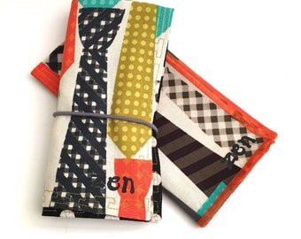 Eco Friendly Kids Roll-up Placemat & Cloth Napkin Set, Neckties