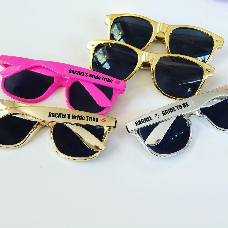 custom sunglasses  GOLD Personalized Sunglasses Bachelorette Sunglasses Custom