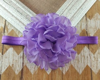 Purple flower headband, big purple flower headband, singed flower headband, purple headband, girls headband, baby headband
