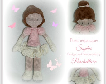 Crochet wool doll-Sophie
