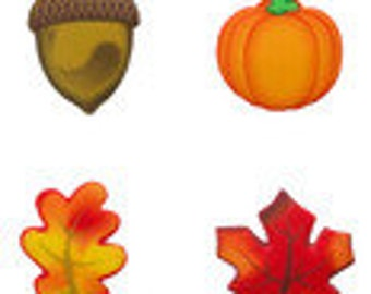 SUGARSOFT Edible Fall Assortment Decorations 12 Pieces!